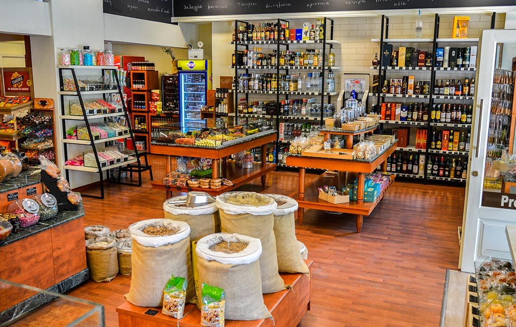 Κάβα Μουτζούρη - Καλαμάτα - Ξηροί καρποί - Ποτά - Καφές - Κατάστημα Φαρών 150
